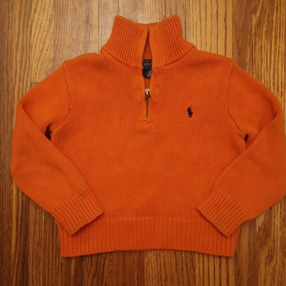 Lauren Sweater Polo Pullover Ralph Orange ulF3KT1Jc